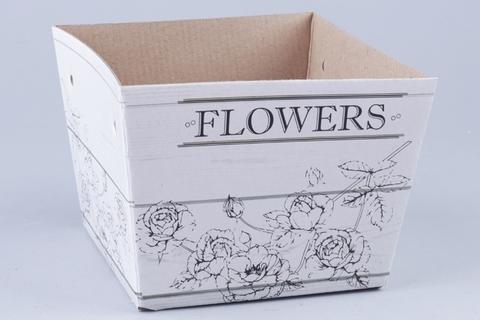 Коробка- пакет 15х12,5х11 см Белое дерево