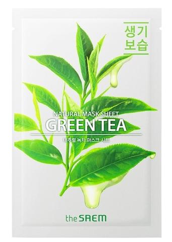 СМ Маска на тканевой основе для лица N с экстрактом зеленого чая Natural Green Tea Mask Sheet 21мл