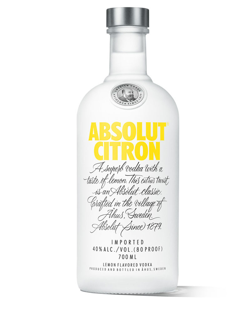Водка Absolut Citron со вкусом лимона 40%, 0,7 л.
