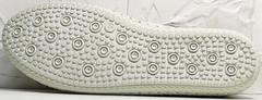 Белые мокасины женские кроссовки на белой подошве Rozen 115 All White.