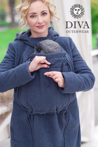 Слингопальто демисезонное 4в1 Diva Outerwear Notte