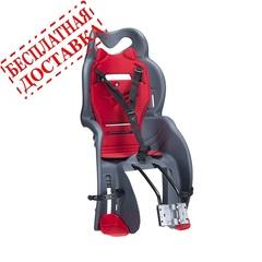 Велокресло для детей HTP SANBAS T (тёмно-серое), крепление к подседельной трубе