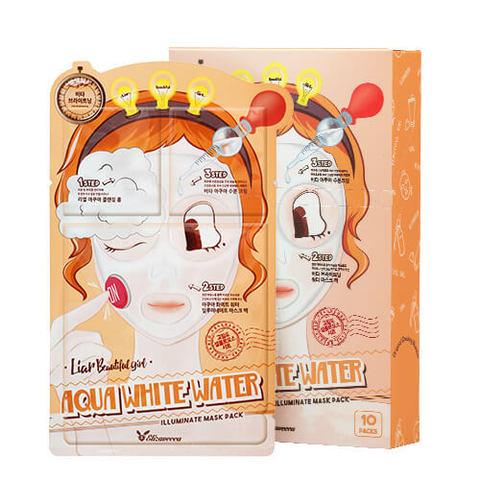 Трехшаговый осветляющий набор для лица Elizavecca Aqua White Water Illuminate Mask Pack