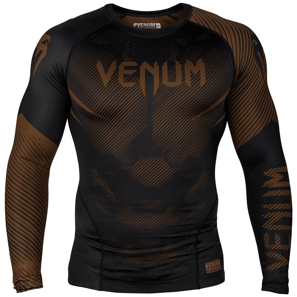 Термобелье/Рашгарды Рашгард Venum NoGi 2.0 Rashguard Long Sleeves Black/Brown 1.jpg