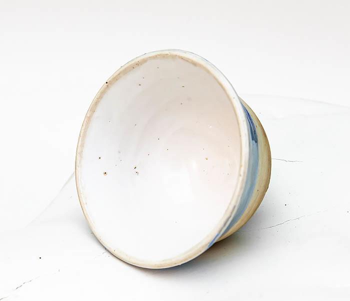 CUP116 Глиняная пиала для чая ручной работы фото 04