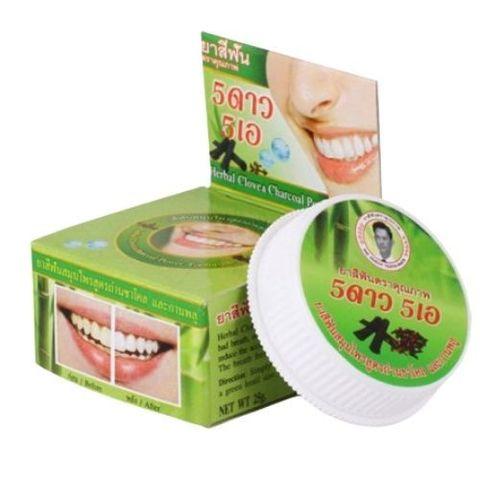 Зубная паста отбеливающая Бамбуковый уголь 5 Star, 25 г