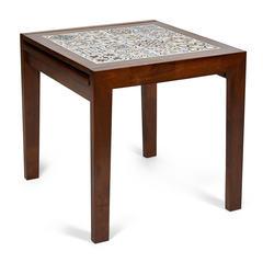 Стол раскладной с плиткой CT 3030 Kasablanca (Тёмный Дуб, рисунок - марокко)