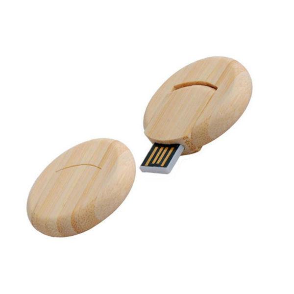 usb-флешка деревянная круглая оптом