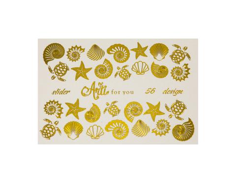 Фольга для дизайна ногтей цвет золото 56 купить за 120руб