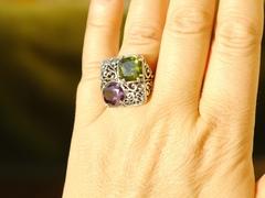 Флоренция  (кольцо + серьги из серебра)