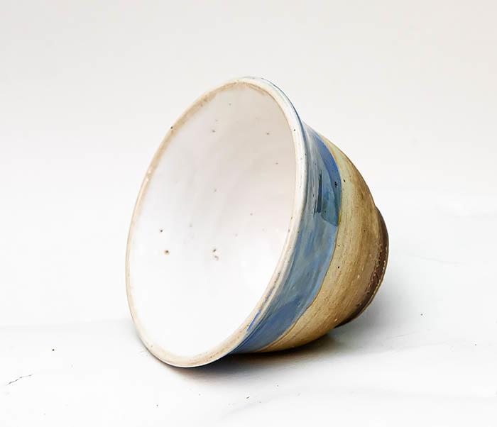 CUP116 Глиняная пиала для чая ручной работы фото 05