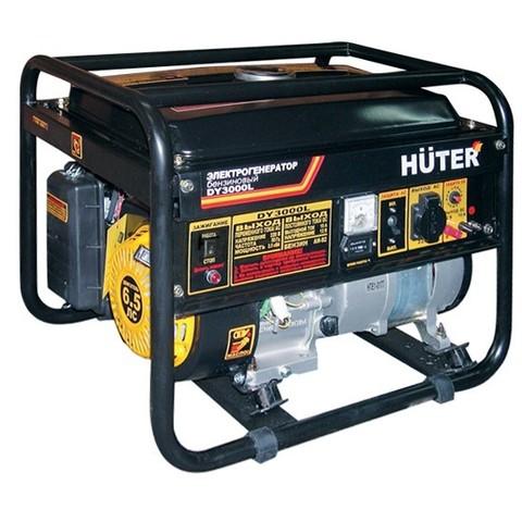 Генератор бензиновый Huter DY3000L 2000/2500Вт,220В,ручной стартер