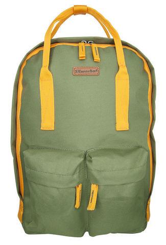 Рюкзак Silwerhof Cube, оливковый/оранжевый, 26х7,5х36,5 см, 7 л