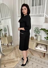Еля. Стильна сукня plus size. Чорний