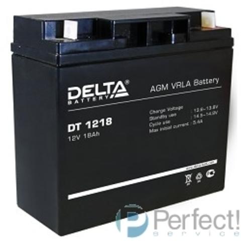 Delta DT 1218 (18 А\ч, 12В) свинцово- кислотный аккумулятор