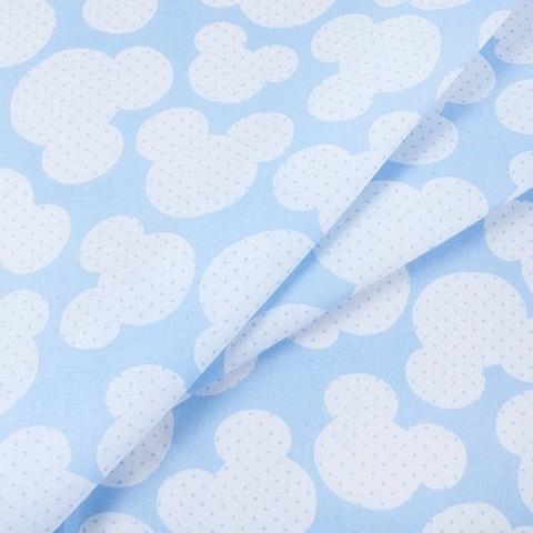 Бязь плательная 150 см 1717/3 цвет голубой
