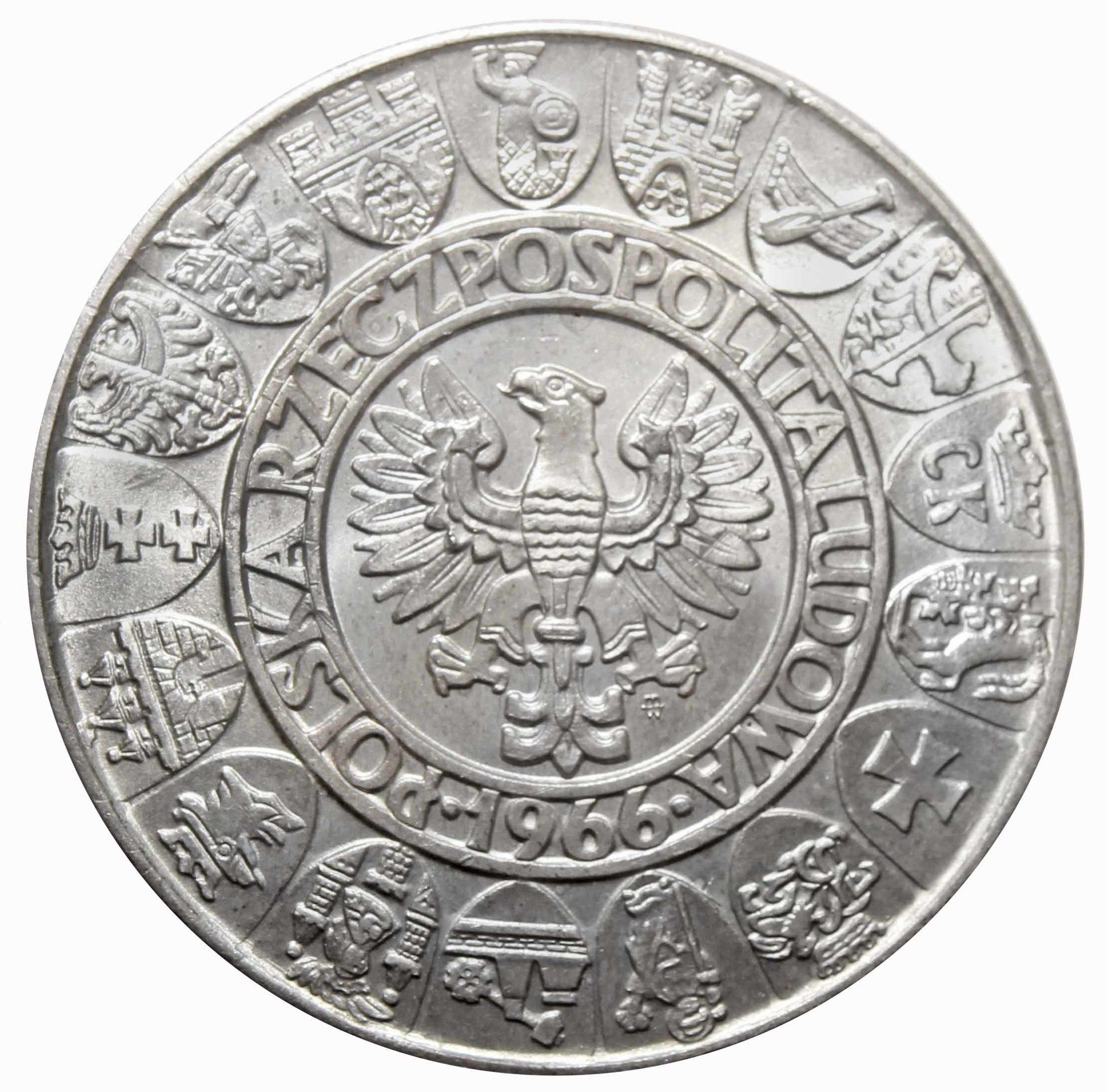 100 злотых 1966 год. 1000-летие Польши. Польша.