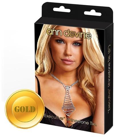 Галстук из кристаллов EXECUTIVE (GOLD)
