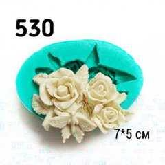 0530 Молд силиконовый Розы и  бабочка