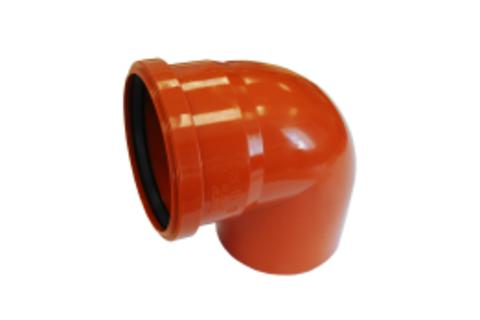 Отвод канализационный D110х90 оранж. - Контур
