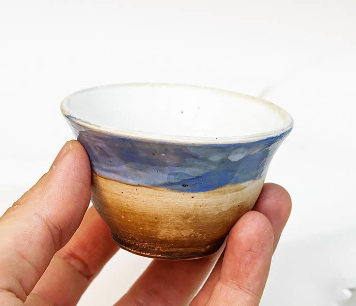 CUP116 Глиняная пиала для чая ручной работы фото 06
