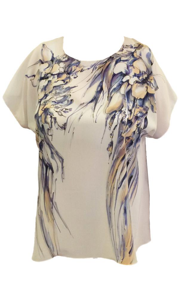 Шелковая блузка батик Фантазия П-182