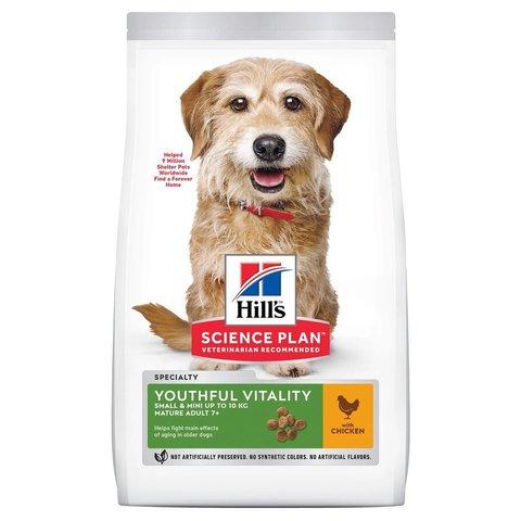 Сухой корм Hill's Science Plan Youthful Vitality для пожилых собак (7+) мелких пород для поддержания здоровья в период старения, с курицей и рисом