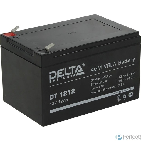 Delta DT 1212 (12 А\ч, 12В) свинцово- кислотный аккумулятор