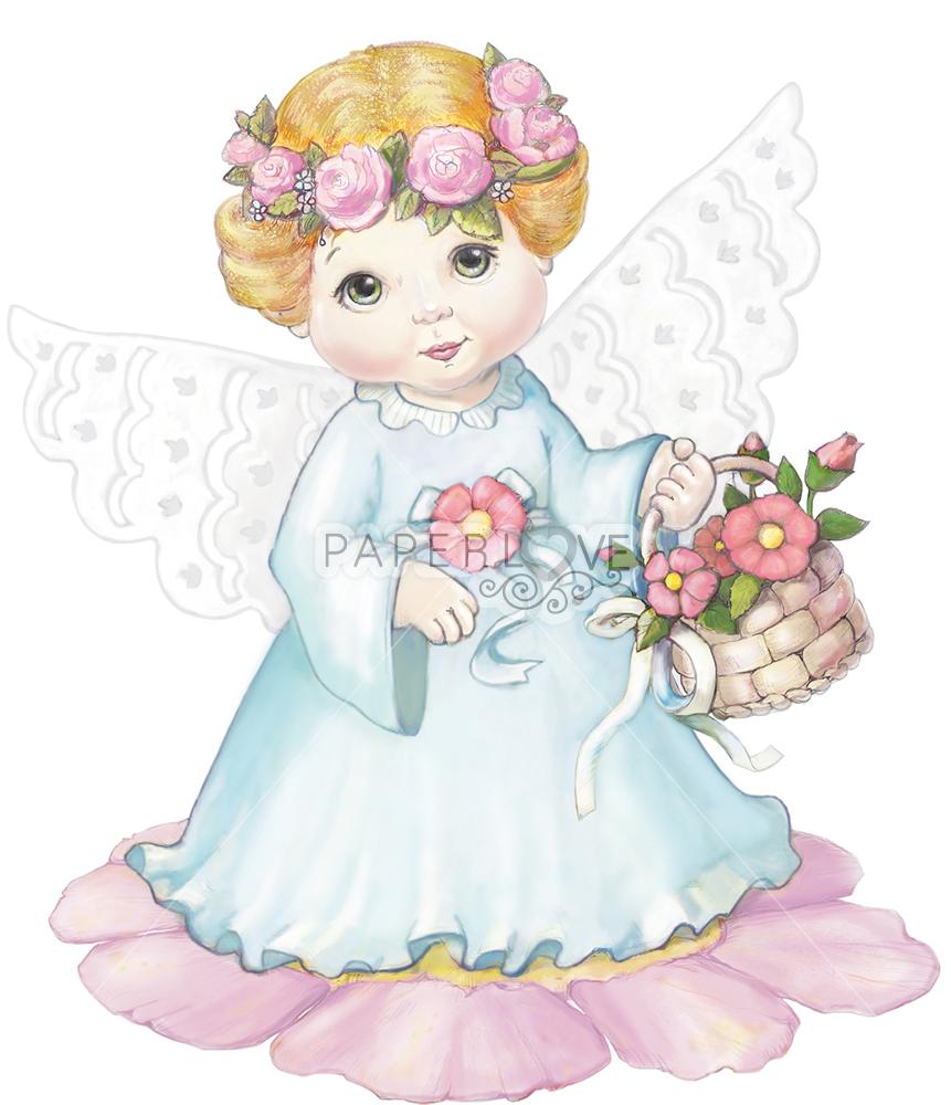 Папертоль Ангел с цветами — главное фото сюжета.