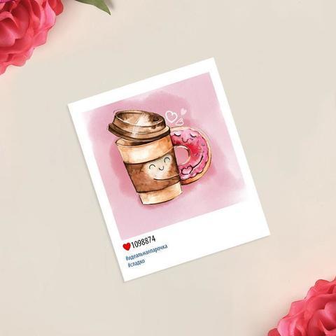 Открытка-инстаграм «Идеальная парочка», 8 × 10 см