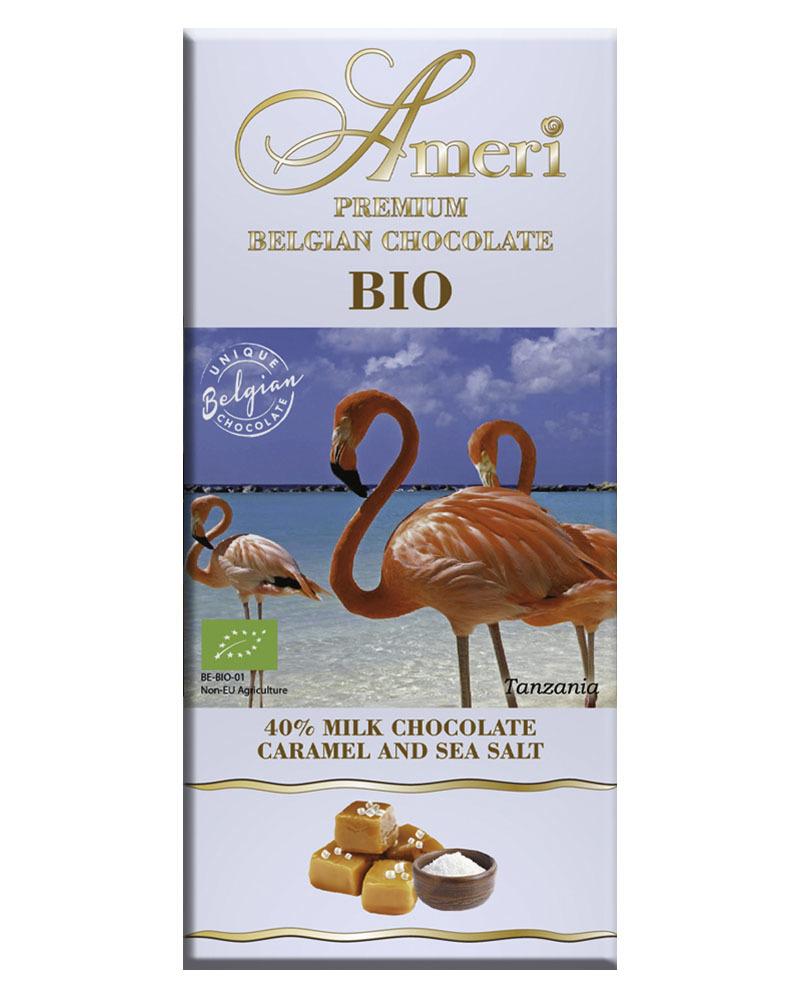 Молочный Шоколад Ameri 40% Какао с Карамелью и Морской Солью БИО 100гр
