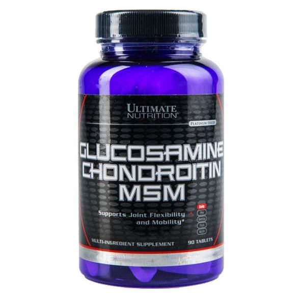 Ultimate Nutrition Glucosamine & Chondroitin & MSM (90 tablets)