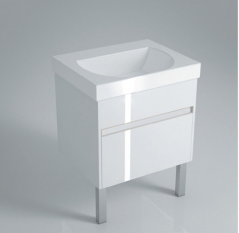 Тумба (2 ящика) с раковиной Kerama Marazzi Buongiorno 60 белый