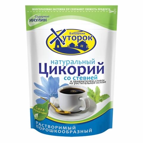 Напиток цикорий ХУТОРОК Со стевией и сливками 100 гр ДП РОССИЯ