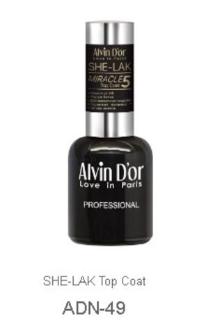 Alvin D`or  Лак-ТОП для ногтей SHE-LAK Top Coat 5свойств ADN-4901 15мл