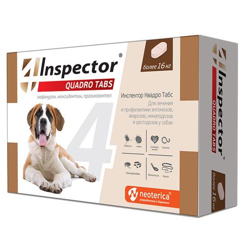 Инспектор Quadro Табс для кошек и собак более 16 кг 4 таб.