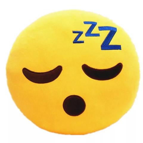 Подушка Emoji ZZZ (Эмоджи Спящий / Sleep, 28 см)