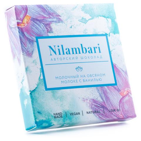 Шоколад Nilambari молочный на овсяном молоке с ванилью