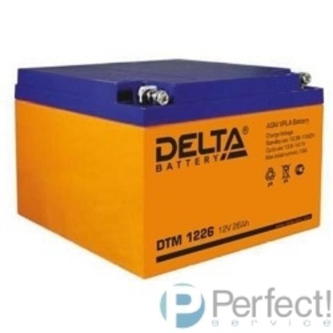Delta DTM 1226 (26А\ч, 12В) свинцово- кислотный аккумулятор