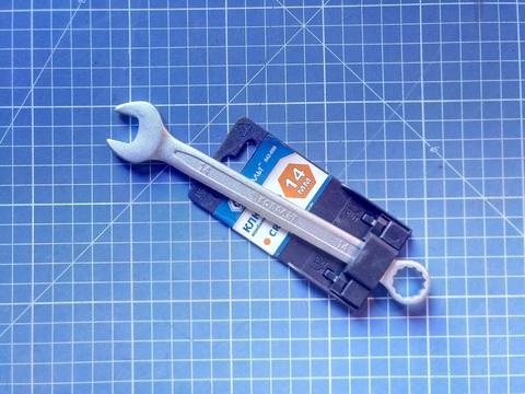 Ключ комбинированный КОБАЛЬТ 14 мм Cr-V (1 шт.) подвес