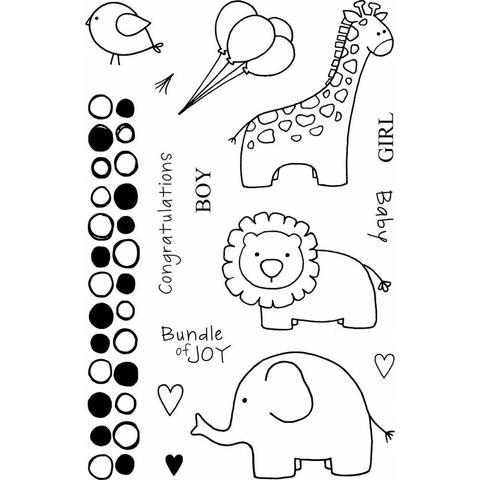 Набор силиконовых штампов -Jungle Baby