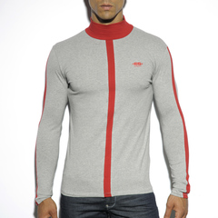 Спортивный реглан - Color Turtleneck T-Shirt