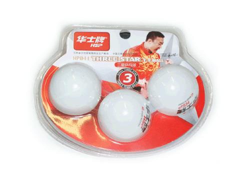 Шарики для настольного тенниса 3* HP. Размер. 40 мм. Материал: ABS пластик. Количество штук в упаковке - 3. ABS-041