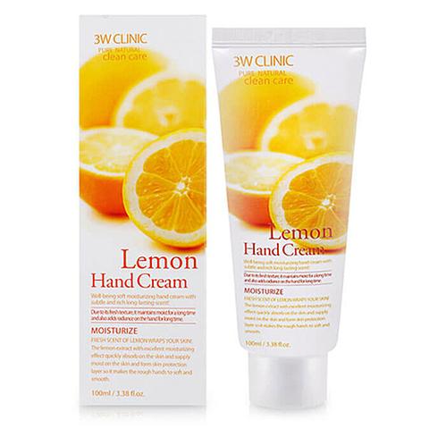 3W Clinic Крем для рук с экстрактом лимона - Lemon hand cream, 100мл