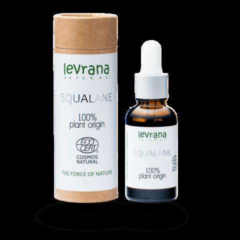 Сыворотка Squalane, 100% растительный сквалан, 30мл ECOCERT Levrana