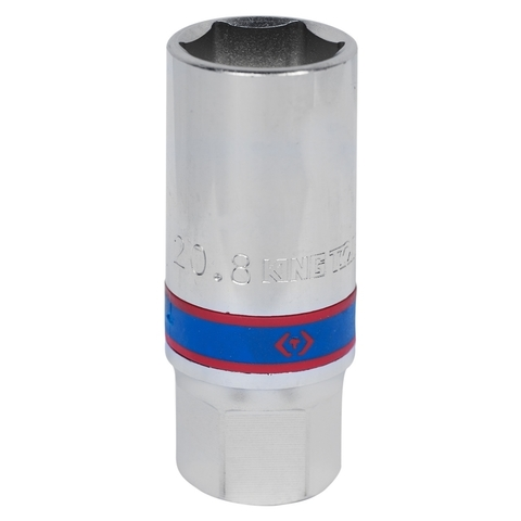 """Головка свечная шестигранная 1/2"""", 21 мм, магнитный фиксатор KING TONY 466521"""