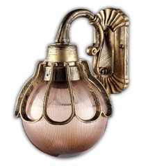 Светильник садово-парковый, 60W 220V E27 черное золото , IP44 , PL5042 (Feron)