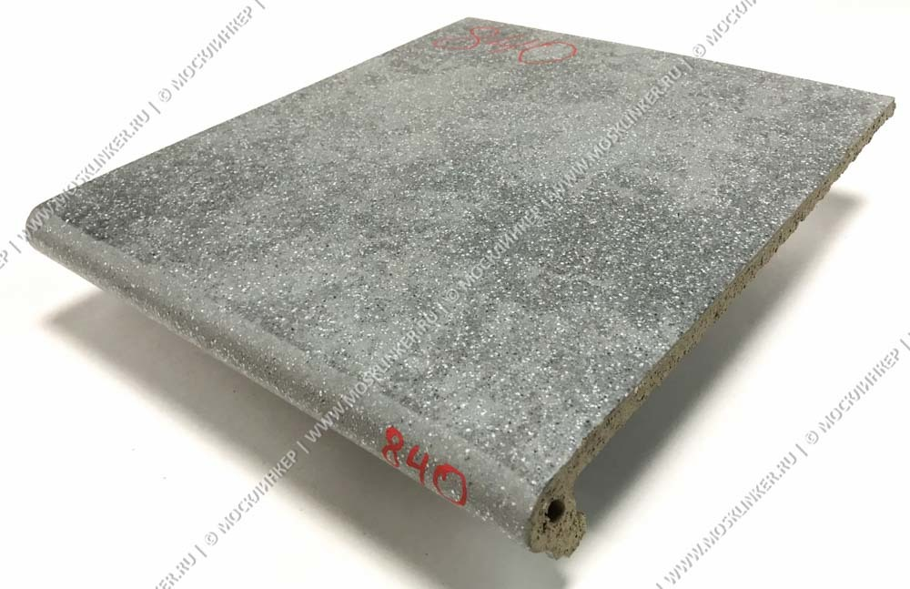 Stroeher - Keraplatte Roccia 840 grigio 340x240x12 артикул 9240 - Клинкерная ступень - флорентинер