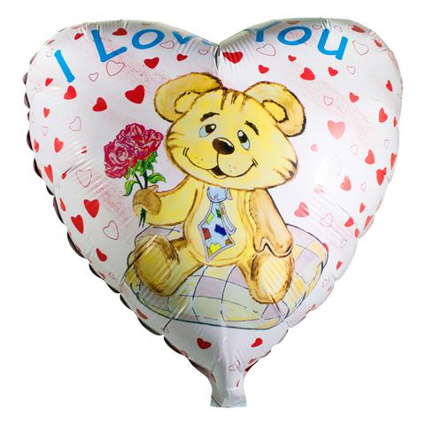 Шар Сердце Влюбленный медведь