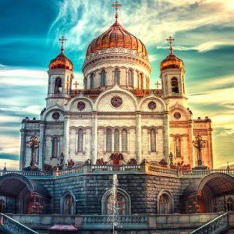 Алмазная Мозаика 5D 40x50 Церковь в солнечном свете